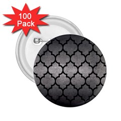 Tile1 Black Marble & Gray Metal 1 (r) 2 25  Buttons (100 Pack)