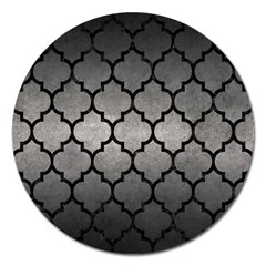 Tile1 Black Marble & Gray Metal 1 (r) Magnet 5  (round)