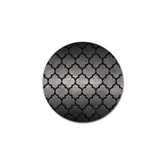 Tile1 Black Marble & Gray Metal 1 (r) Golf Ball Marker (10 Pack)