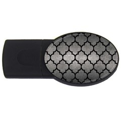 Tile1 Black Marble & Gray Metal 1 (r) Usb Flash Drive Oval (2 Gb)