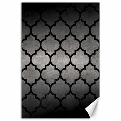 Tile1 Black Marble & Gray Metal 1 (r) Canvas 24  X 36