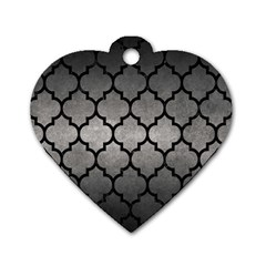 Tile1 Black Marble & Gray Metal 1 (r) Dog Tag Heart (one Side)