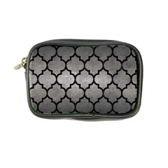 Tile1 Black Marble & Gray Metal 1 (r) Coin Purse