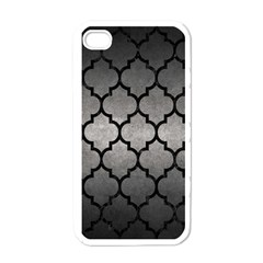 Tile1 Black Marble & Gray Metal 1 (r) Apple Iphone 4 Case (white)