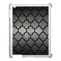 Tile1 Black Marble & Gray Metal 1 (r) Apple Ipad 3/4 Case (white)