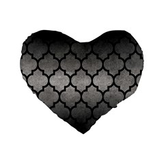 Tile1 Black Marble & Gray Metal 1 (r) Standard 16  Premium Heart Shape Cushions