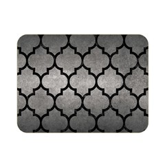 Tile1 Black Marble & Gray Metal 1 (r) Double Sided Flano Blanket (mini)