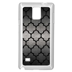 Tile1 Black Marble & Gray Metal 1 (r) Samsung Galaxy Note 4 Case (white)