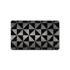 Triangle1 Black Marble & Gray Metal 1 Magnet (name Card)