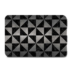 Triangle1 Black Marble & Gray Metal 1 Plate Mats
