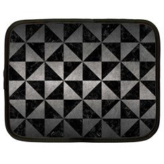 Triangle1 Black Marble & Gray Metal 1 Netbook Case (xxl)