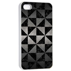 Triangle1 Black Marble & Gray Metal 1 Apple Iphone 4/4s Seamless Case (white)