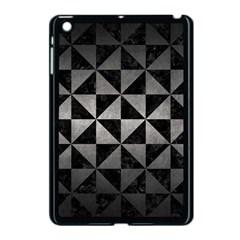 Triangle1 Black Marble & Gray Metal 1 Apple Ipad Mini Case (black)