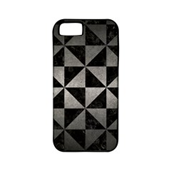 Triangle1 Black Marble & Gray Metal 1 Apple Iphone 5 Classic Hardshell Case (pc+silicone)