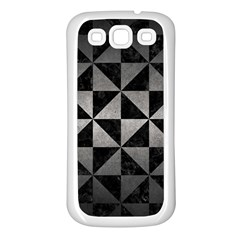 Triangle1 Black Marble & Gray Metal 1 Samsung Galaxy S3 Back Case (white)