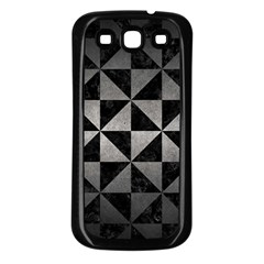 Triangle1 Black Marble & Gray Metal 1 Samsung Galaxy S3 Back Case (black)