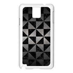 Triangle1 Black Marble & Gray Metal 1 Samsung Galaxy Note 3 N9005 Case (white)