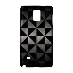 Triangle1 Black Marble & Gray Metal 1 Samsung Galaxy Note 4 Hardshell Case