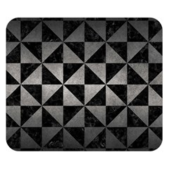 Triangle1 Black Marble & Gray Metal 1 Double Sided Flano Blanket (small)