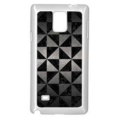 Triangle1 Black Marble & Gray Metal 1 Samsung Galaxy Note 4 Case (white)