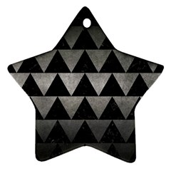 Triangle2 Black Marble & Gray Metal 1 Ornament (star)