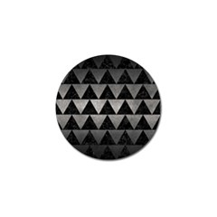 Triangle2 Black Marble & Gray Metal 1 Golf Ball Marker (4 Pack)