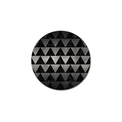 Triangle2 Black Marble & Gray Metal 1 Golf Ball Marker (10 Pack)