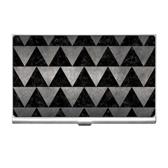 Triangle2 Black Marble & Gray Metal 1 Business Card Holders