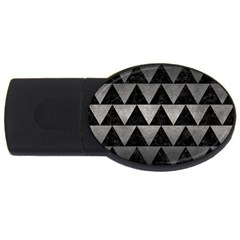 Triangle2 Black Marble & Gray Metal 1 Usb Flash Drive Oval (4 Gb)