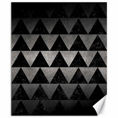 Triangle2 Black Marble & Gray Metal 1 Canvas 8  X 10