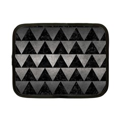 Triangle2 Black Marble & Gray Metal 1 Netbook Case (small)