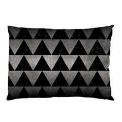 Triangle2 Black Marble & Gray Metal 1 Pillow Case