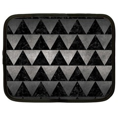 Triangle2 Black Marble & Gray Metal 1 Netbook Case (xl)