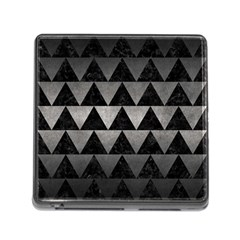 Triangle2 Black Marble & Gray Metal 1 Memory Card Reader (square)