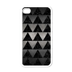 Triangle2 Black Marble & Gray Metal 1 Apple Iphone 4 Case (white)