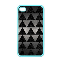 Triangle2 Black Marble & Gray Metal 1 Apple Iphone 4 Case (color)