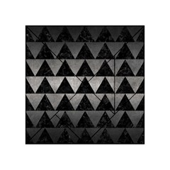 Triangle2 Black Marble & Gray Metal 1 Acrylic Tangram Puzzle (4  X 4 )
