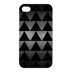 Triangle2 Black Marble & Gray Metal 1 Apple Iphone 4/4s Premium Hardshell Case