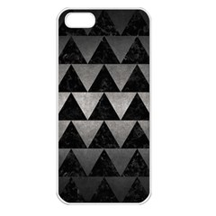 Triangle2 Black Marble & Gray Metal 1 Apple Iphone 5 Seamless Case (white)