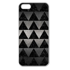 Triangle2 Black Marble & Gray Metal 1 Apple Seamless Iphone 5 Case (clear)
