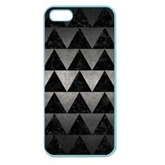 Triangle2 Black Marble & Gray Metal 1 Apple Seamless Iphone 5 Case (color)