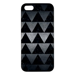 Triangle2 Black Marble & Gray Metal 1 Apple Iphone 5 Premium Hardshell Case