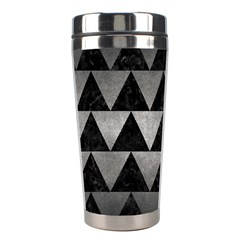Triangle2 Black Marble & Gray Metal 1 Stainless Steel Travel Tumblers