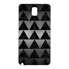 Triangle2 Black Marble & Gray Metal 1 Samsung Galaxy Note 3 N9005 Hardshell Back Case