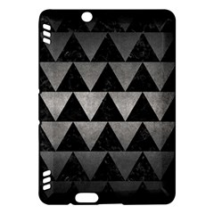 Triangle2 Black Marble & Gray Metal 1 Kindle Fire Hdx Hardshell Case