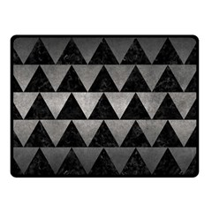 Triangle2 Black Marble & Gray Metal 1 Double Sided Fleece Blanket (small)
