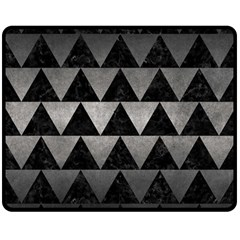 Triangle2 Black Marble & Gray Metal 1 Double Sided Fleece Blanket (medium)