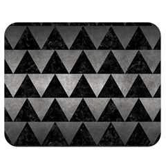 Triangle2 Black Marble & Gray Metal 1 Double Sided Flano Blanket (medium)