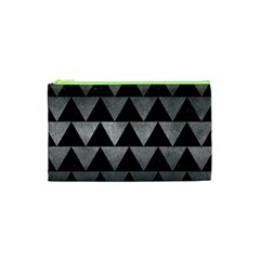 Triangle2 Black Marble & Gray Metal 1 Cosmetic Bag (xs)