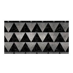 Triangle2 Black Marble & Gray Metal 1 Satin Wrap